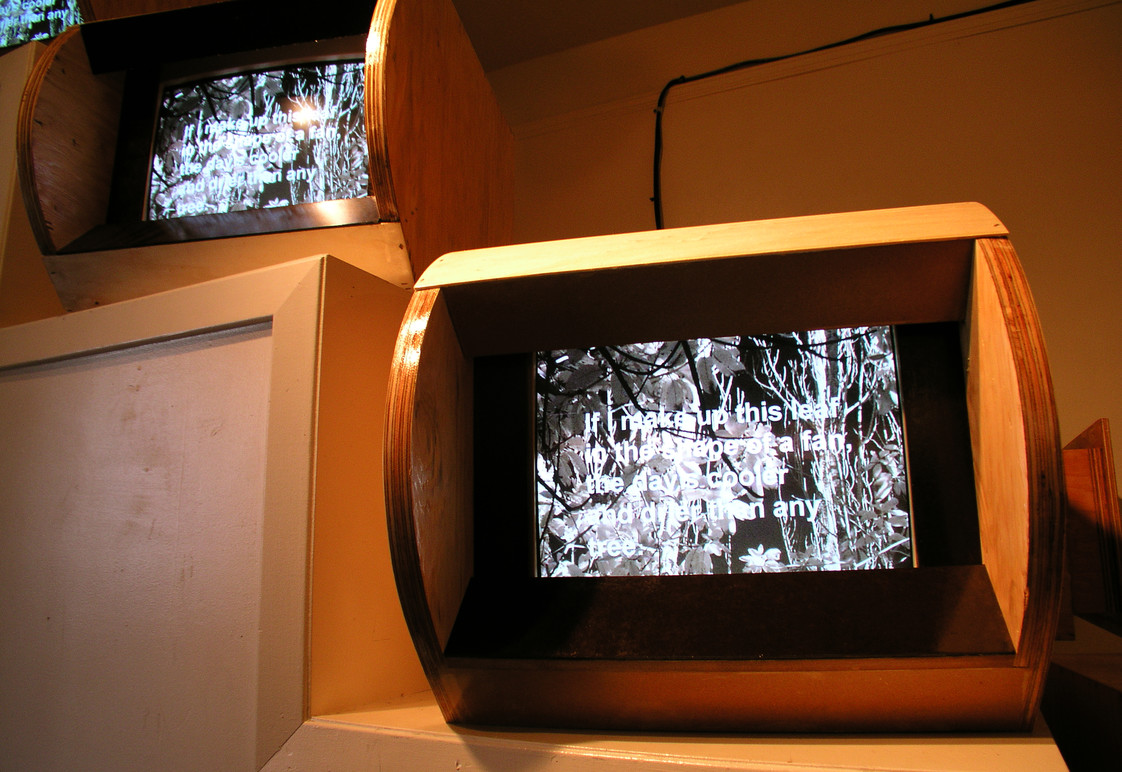 Media installation in exhibition.