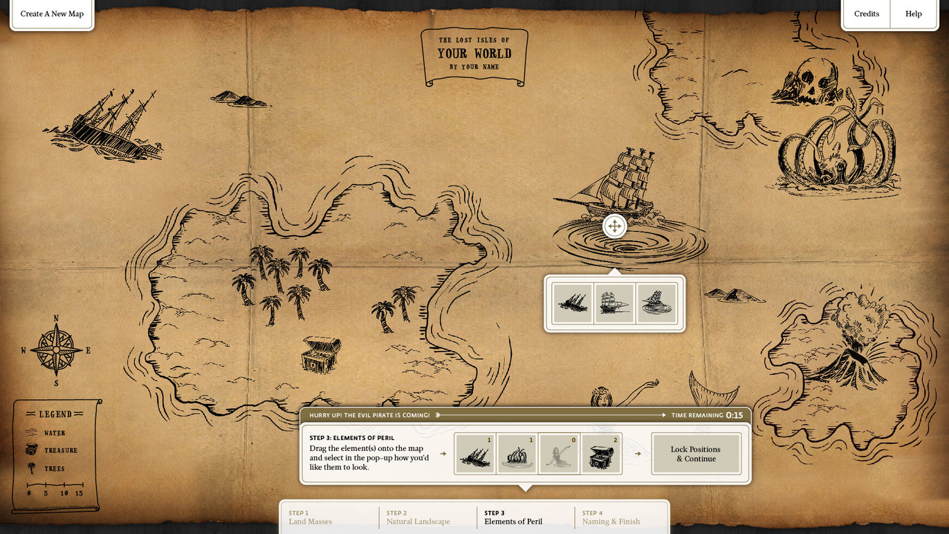Mapmaker interface screen.