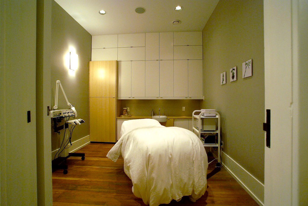 Treatment room interior.