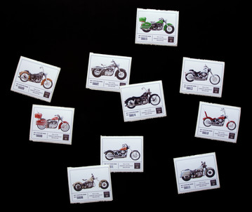 Custom bike stickers are available in the store.