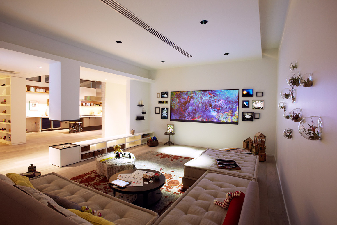 The living room in the Envisioning Center.