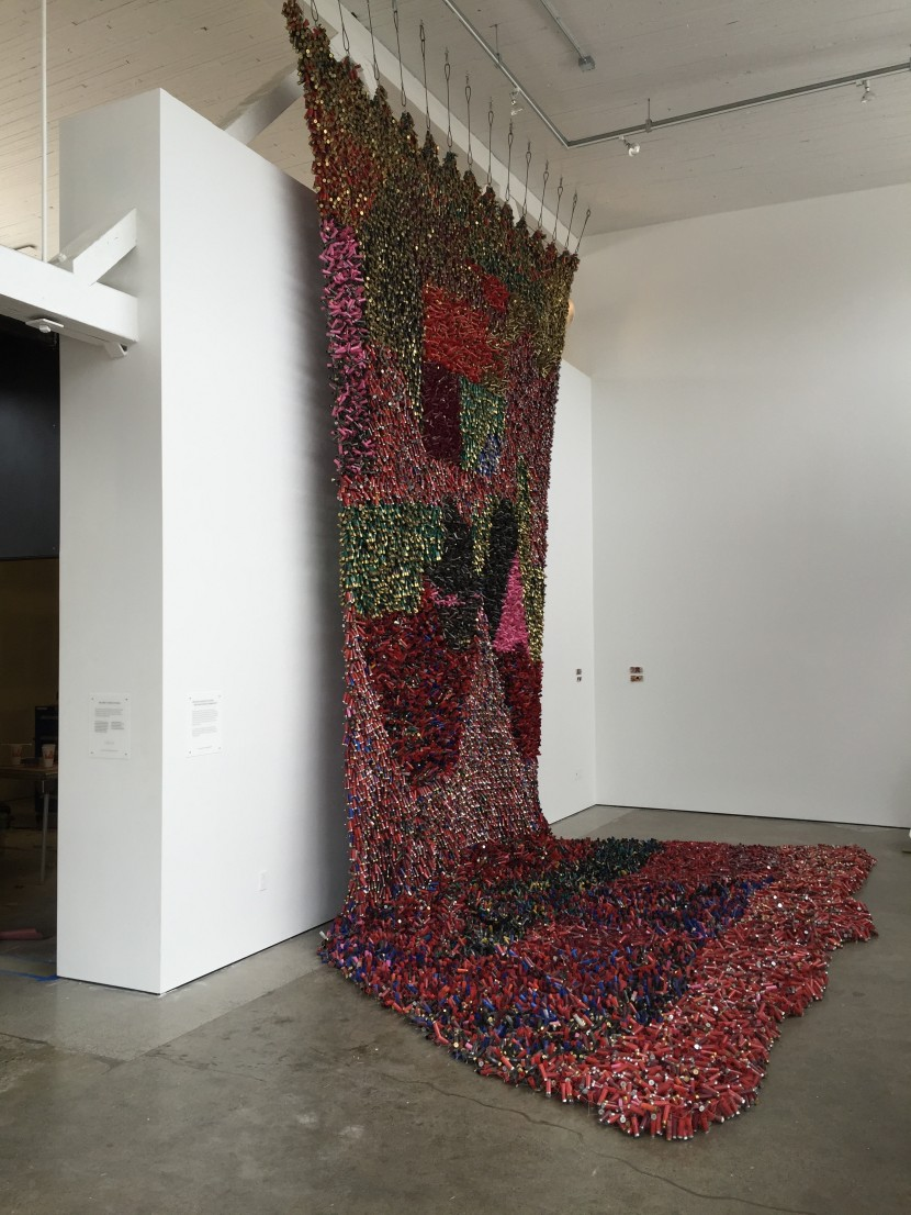The Shotgun Shell Tapestry is 30' tall, and took Lockwood over four months to assemble.