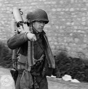 American soldier during World War II.