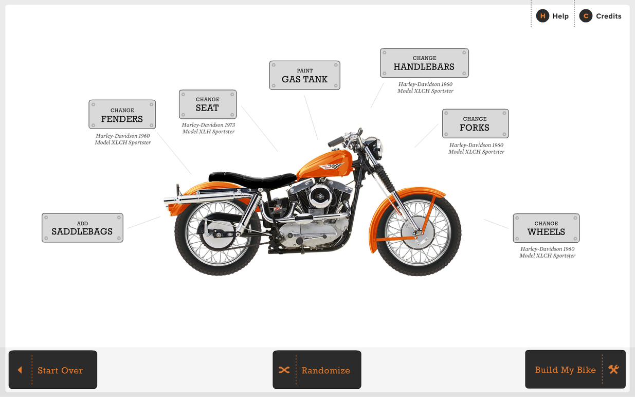 Each element of the bike is customizable.