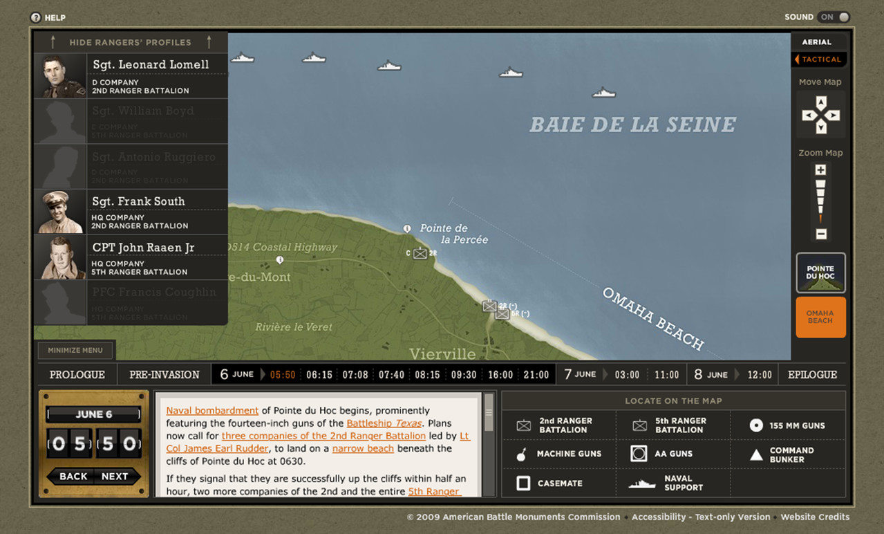 Exploring the Omaha Beach Map.