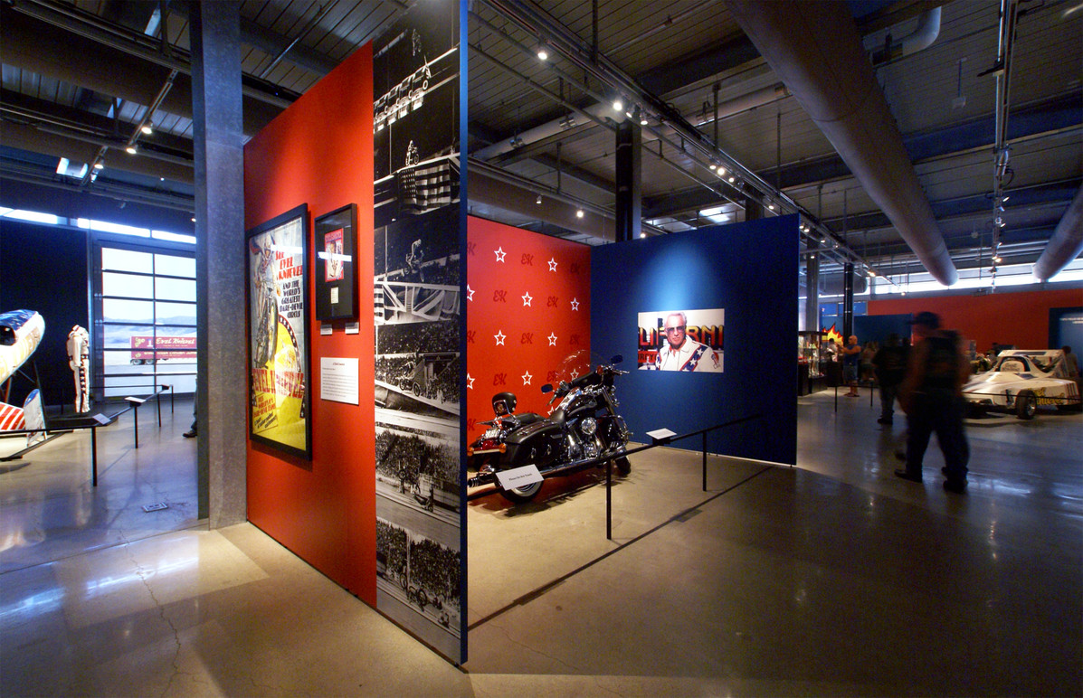 Looking down the second half of the exhibition.