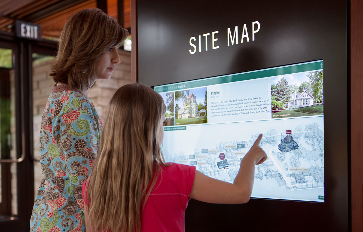 Visitors exploring the Interactive Map.