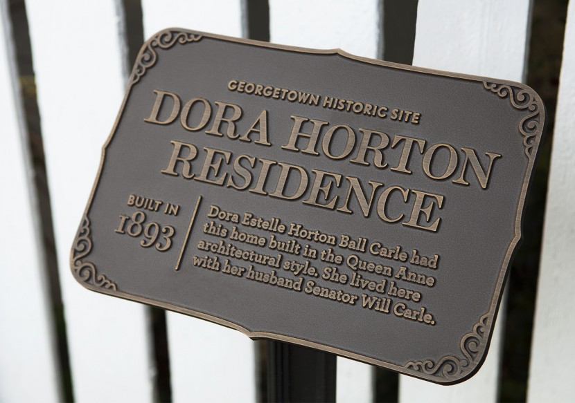 Dora Horton and her husband Senator Will Carle's residence.