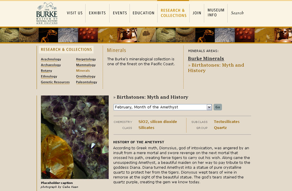 Research and Collections page.