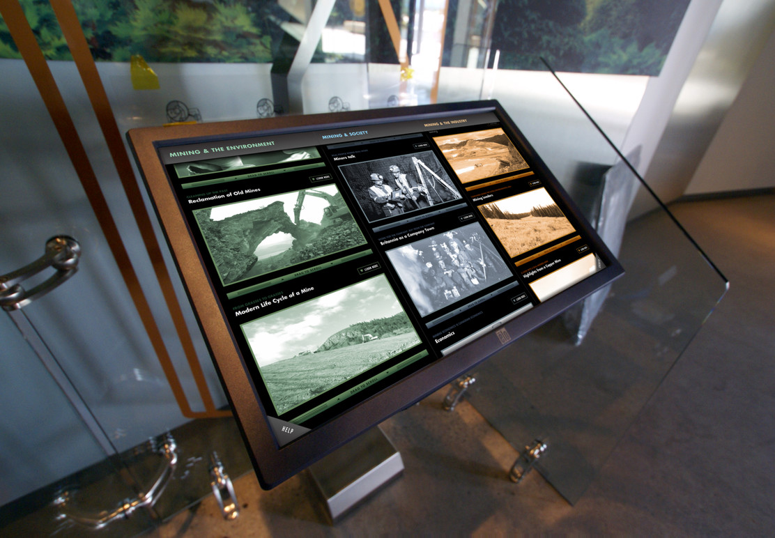 The interactive in the gallery.