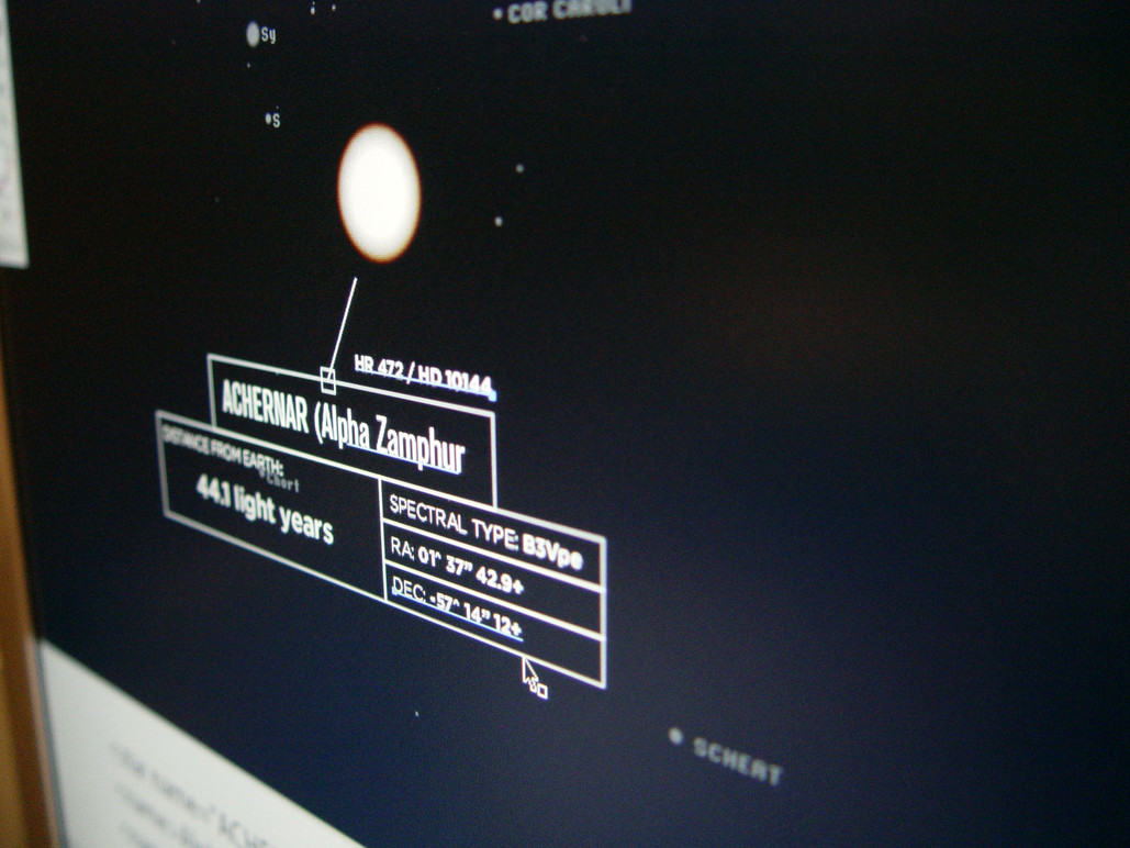 Map of the Known Universe (during prototyping).