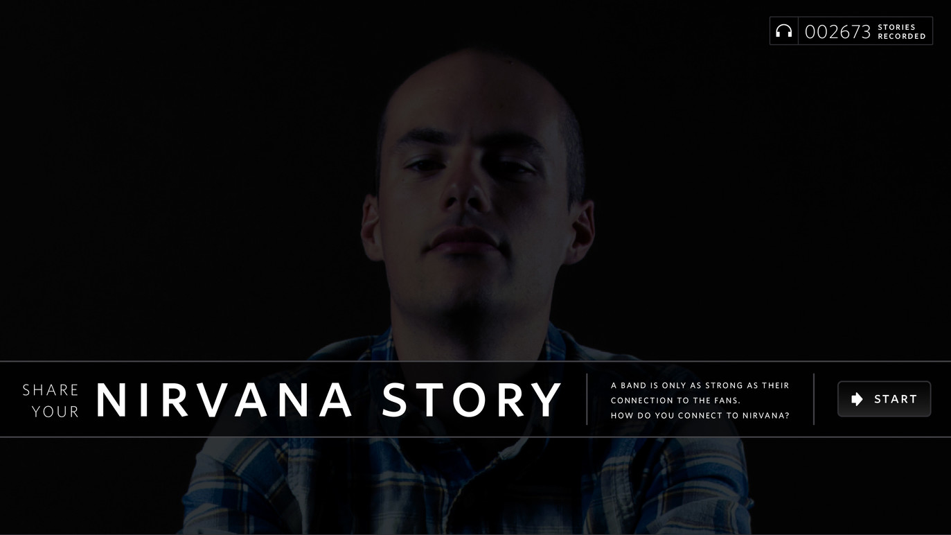 Nirvana story attract screen.