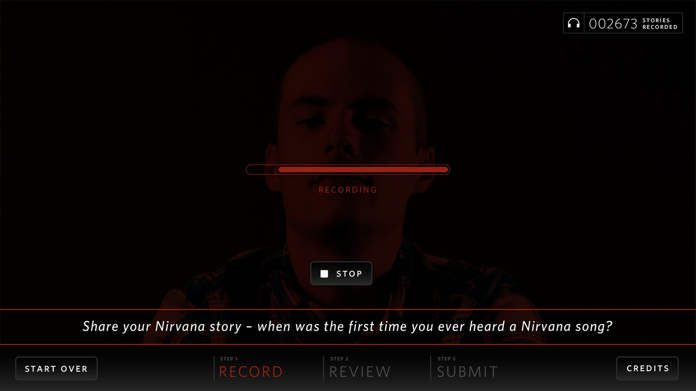 Nirvana story capture screen.