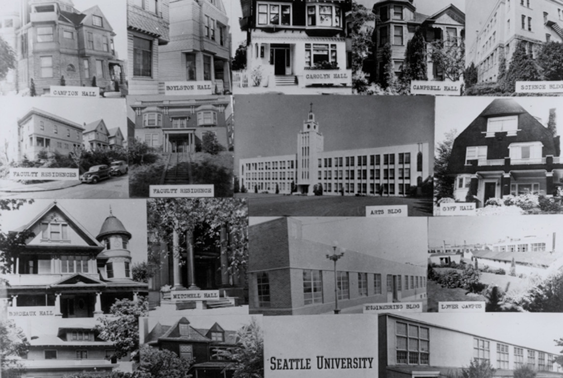 Seattle University campus buildings.