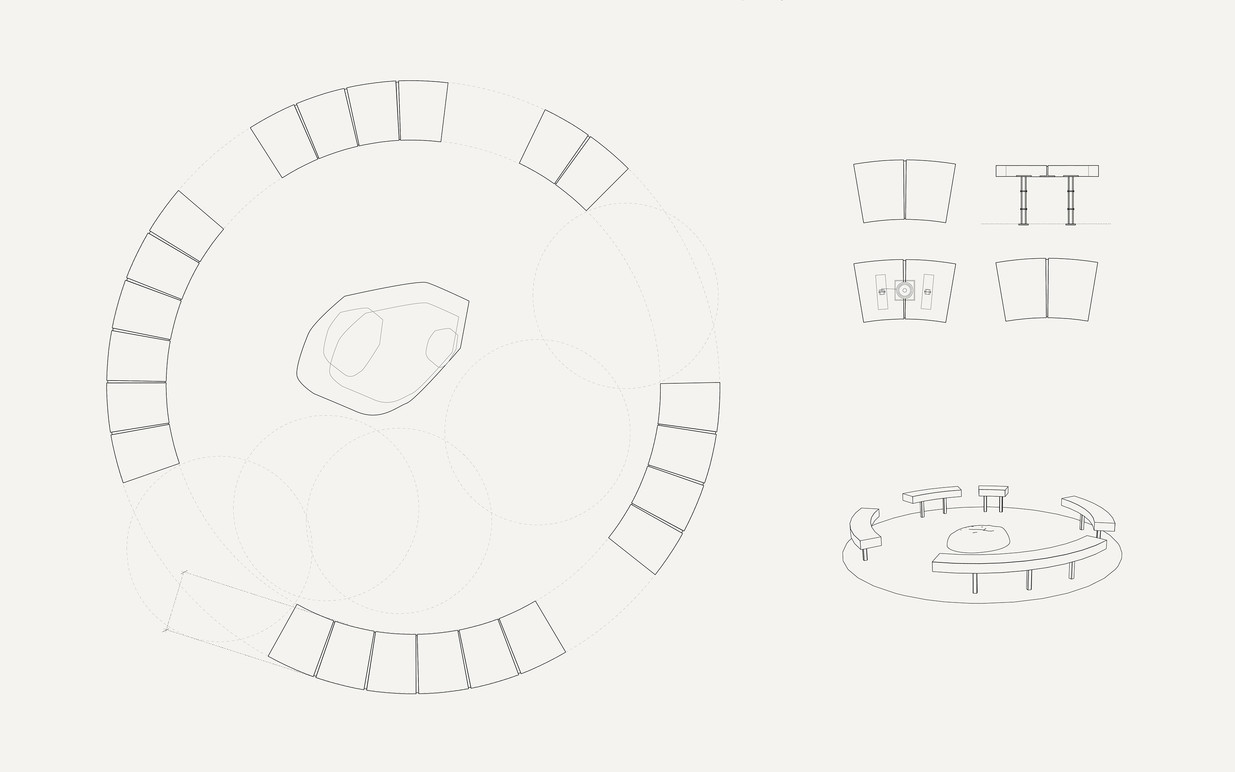 Seating concept drawing.