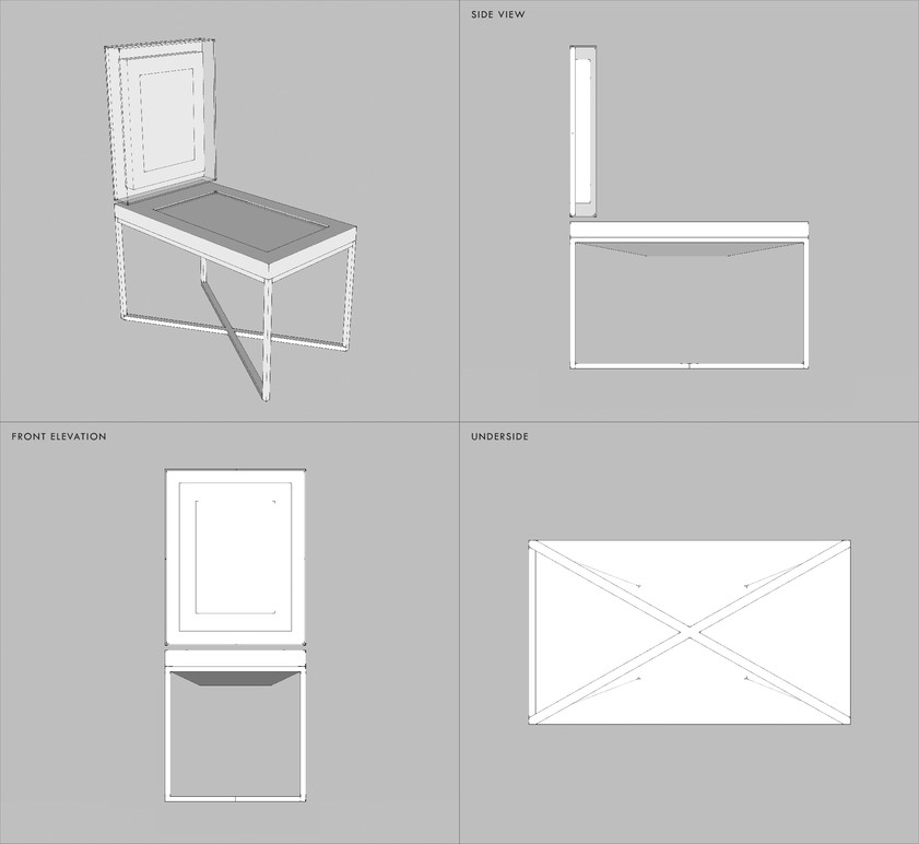 Table drawing set.